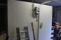 Das neue Kühlhaus im Anbau ist angeschlossen....